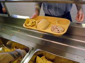 Prison camp's weekly meal menus