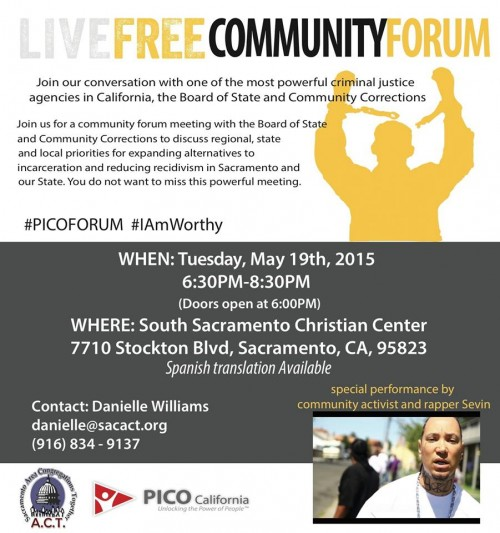 ‎Economic Dignity and employment and housing opportunities for the formerly incarcerated at the LiveFree Community Forum at South Sacramento Christian Center